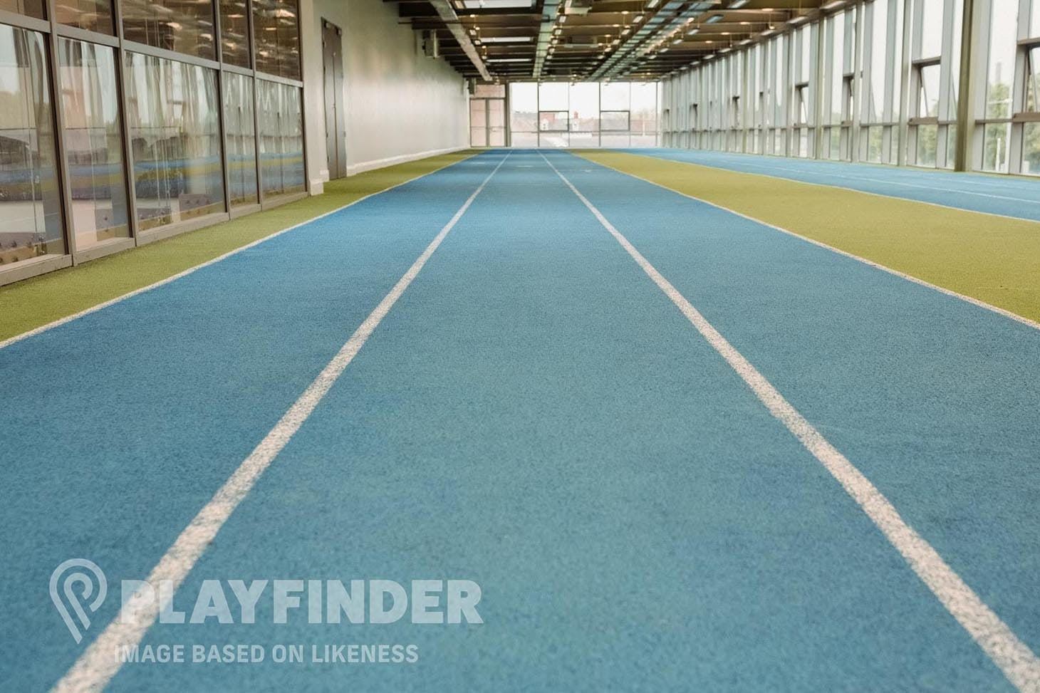St. Raphaela's Secondary School Indoor athletics track