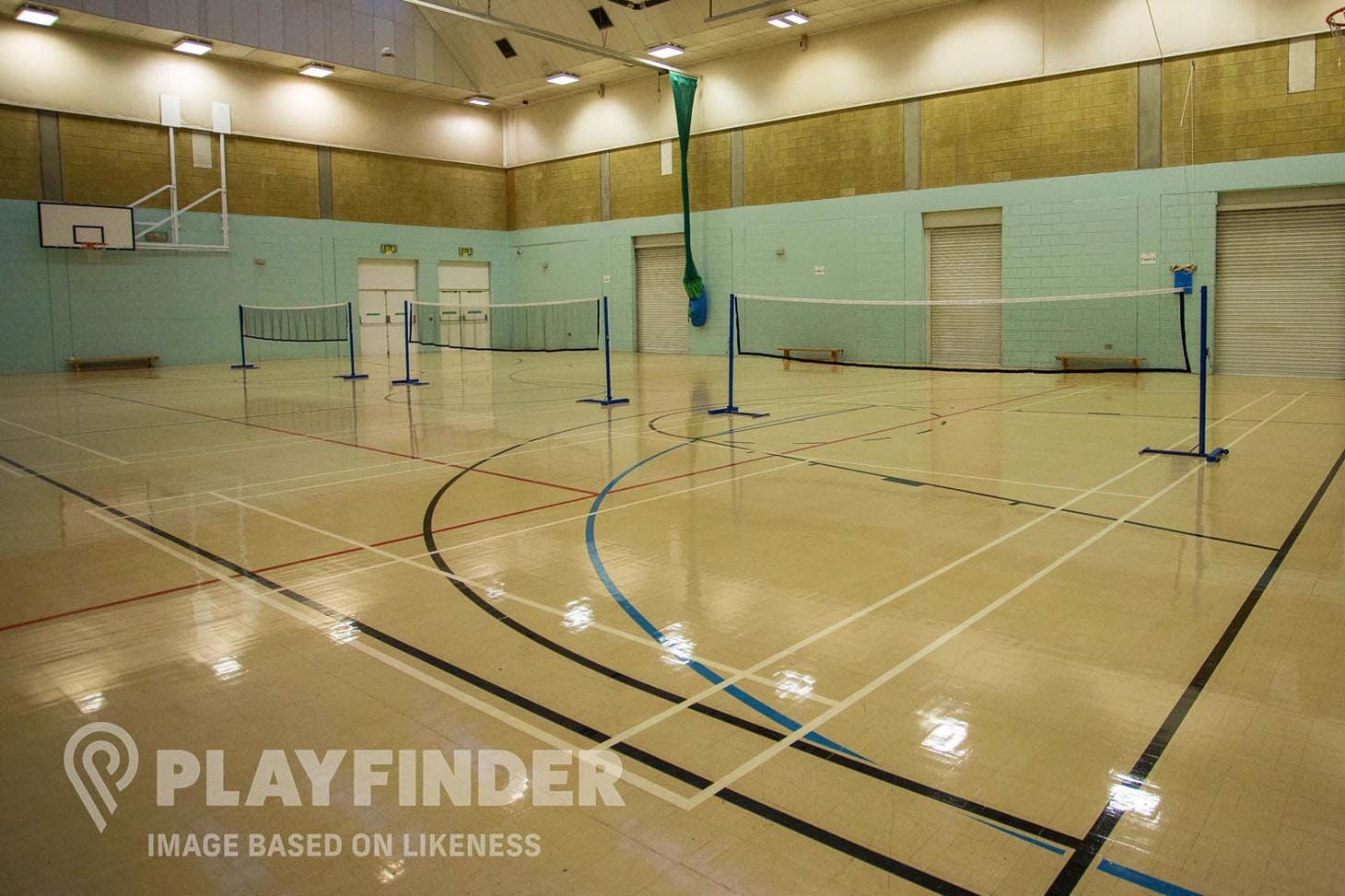 West Lindsey Leisure Centre Indoor badminton court