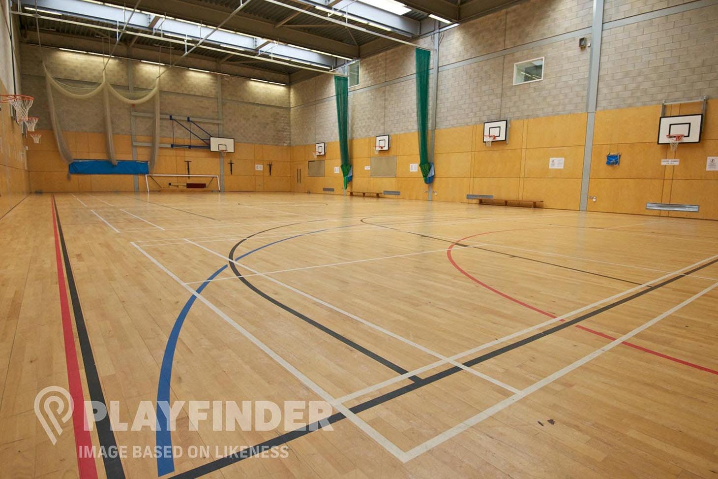 Somers Town Community Sports Centre Half court   Indoor basketball court