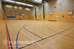 Manchester Health Academy | Indoor Basketball Court