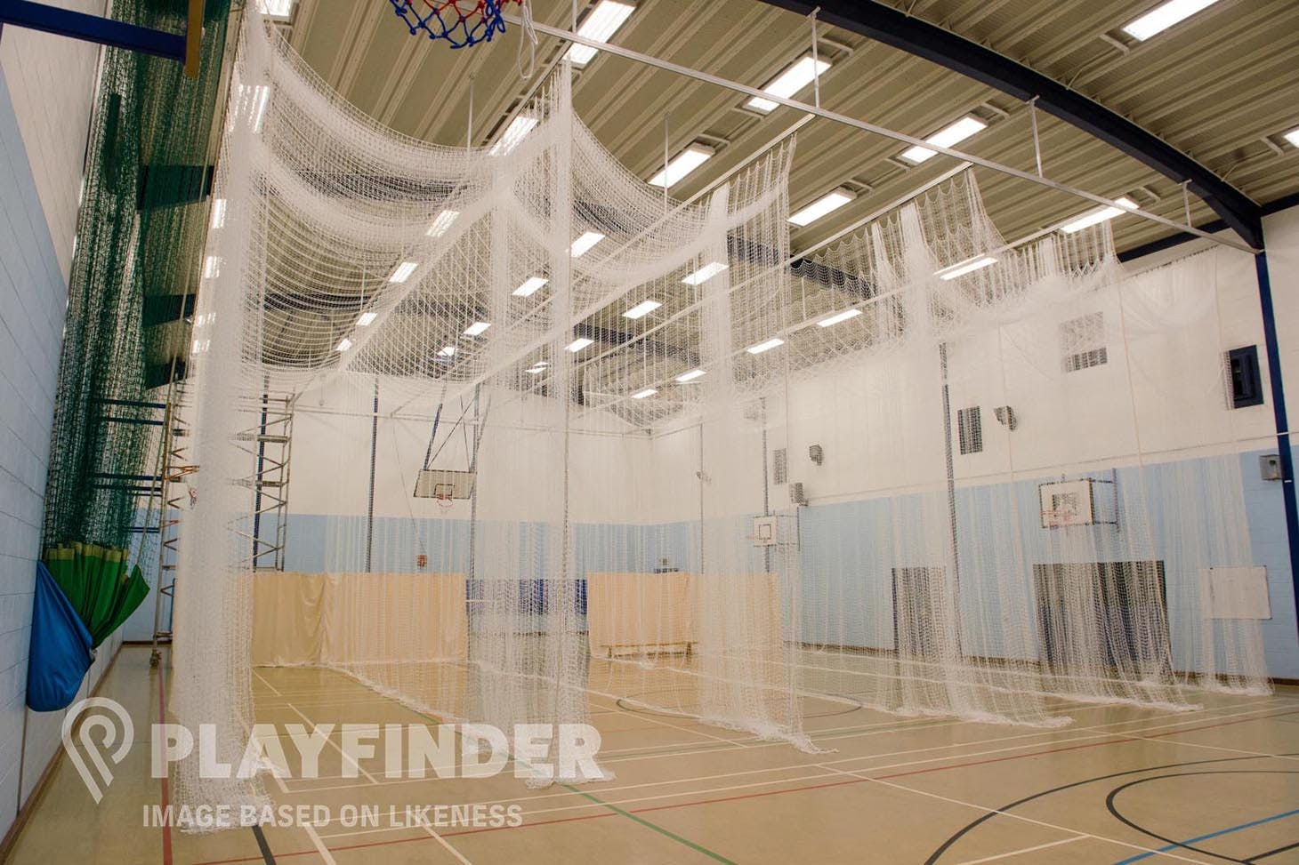 Sydney Russell Leisure Centre Nets | Sports hall cricket facilities