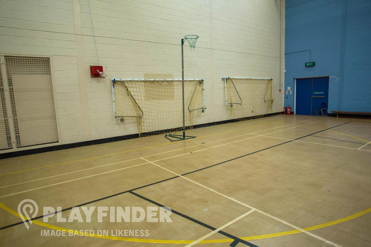 Factory Youth Zone Indoor netball court