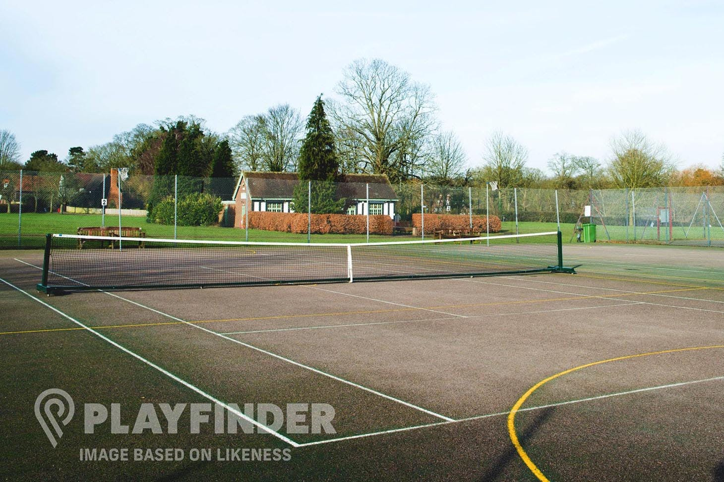 Bourne End Academy Outdoor | Concrete tennis court