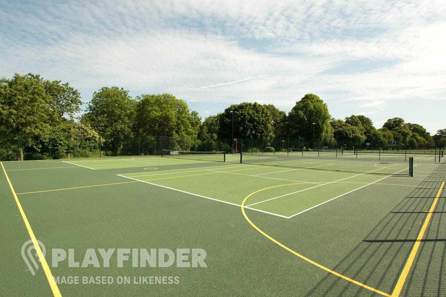Harrow Lodge Park (South) Outdoor | Hard (macadam) tennis court