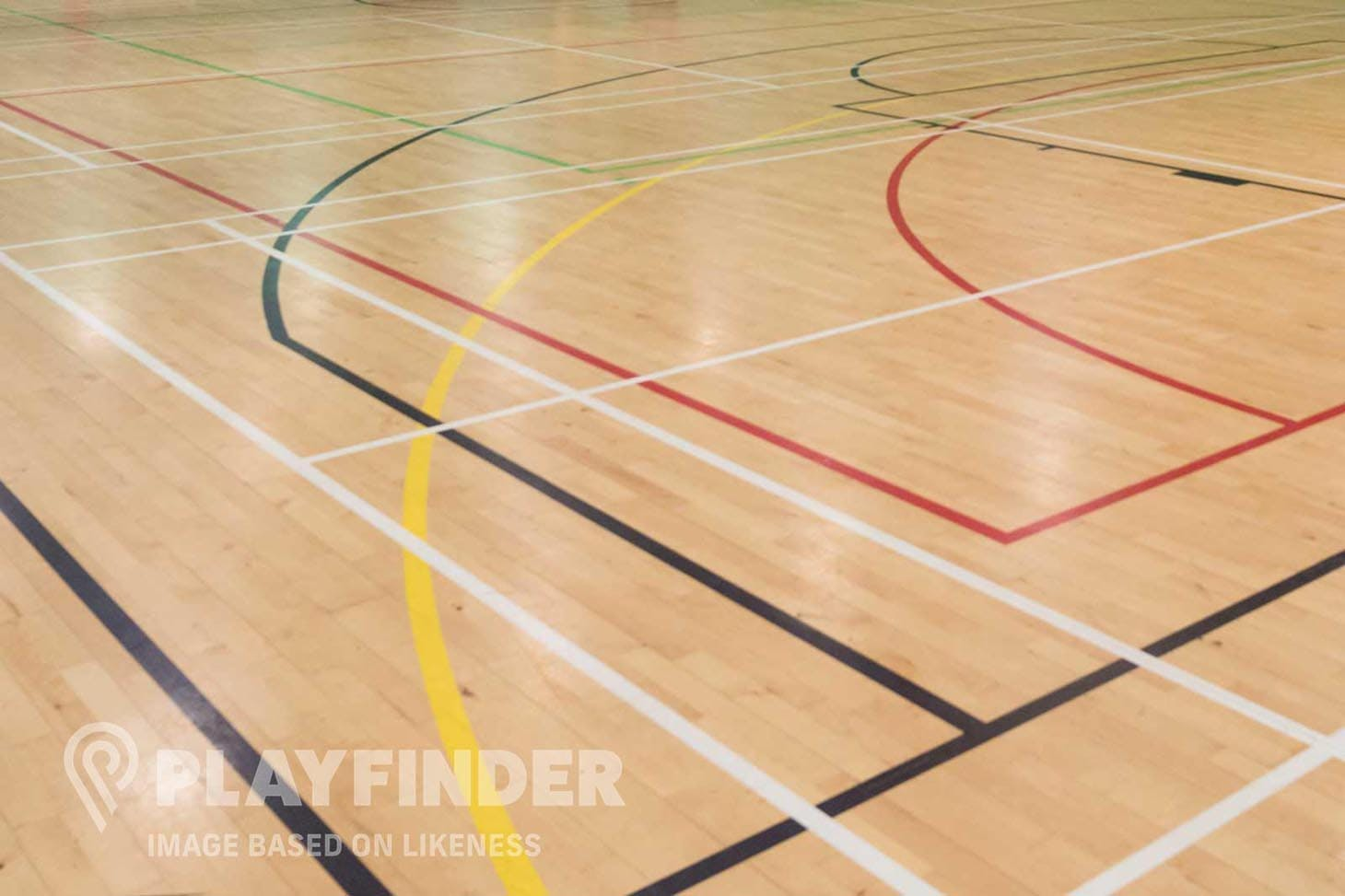 Marcus Lipton Community Enterprise Court | Sports hall volleyball court