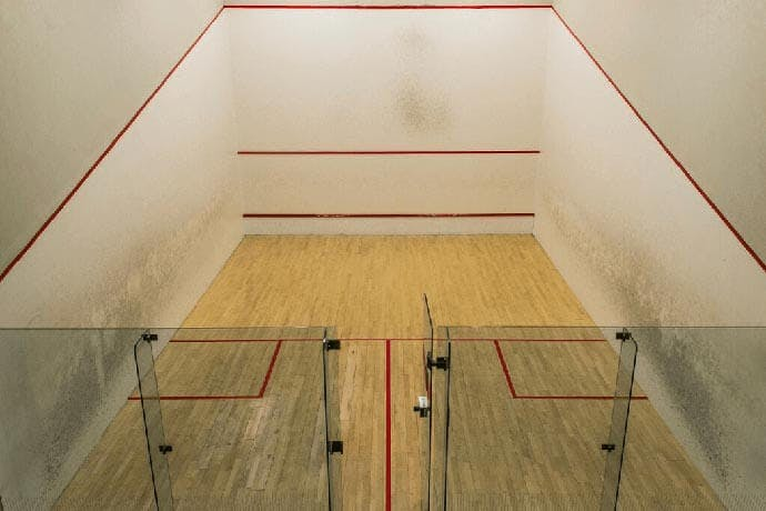 Over 20 squash courts for hire