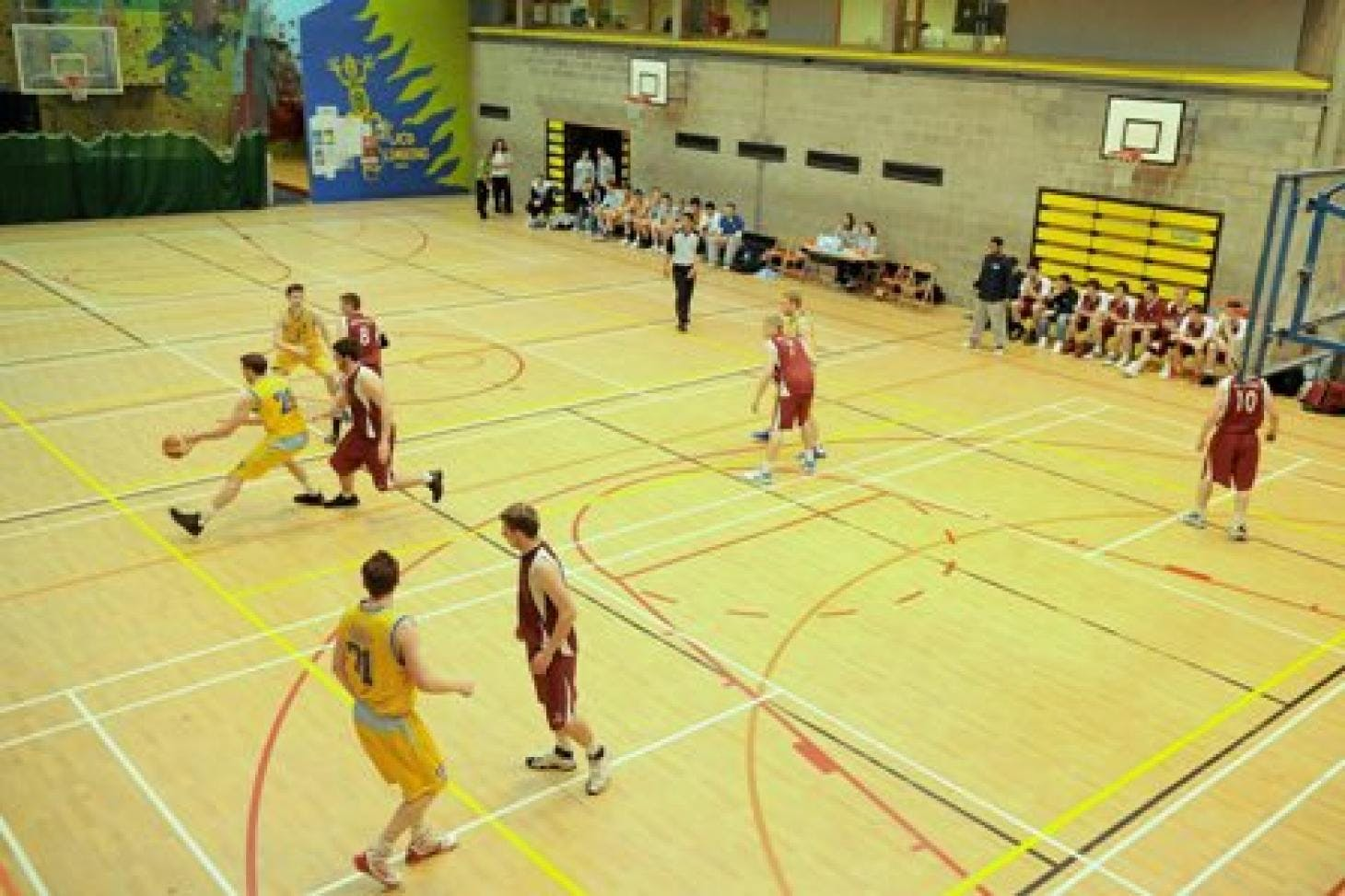 University College Dublin Indoor basketball court