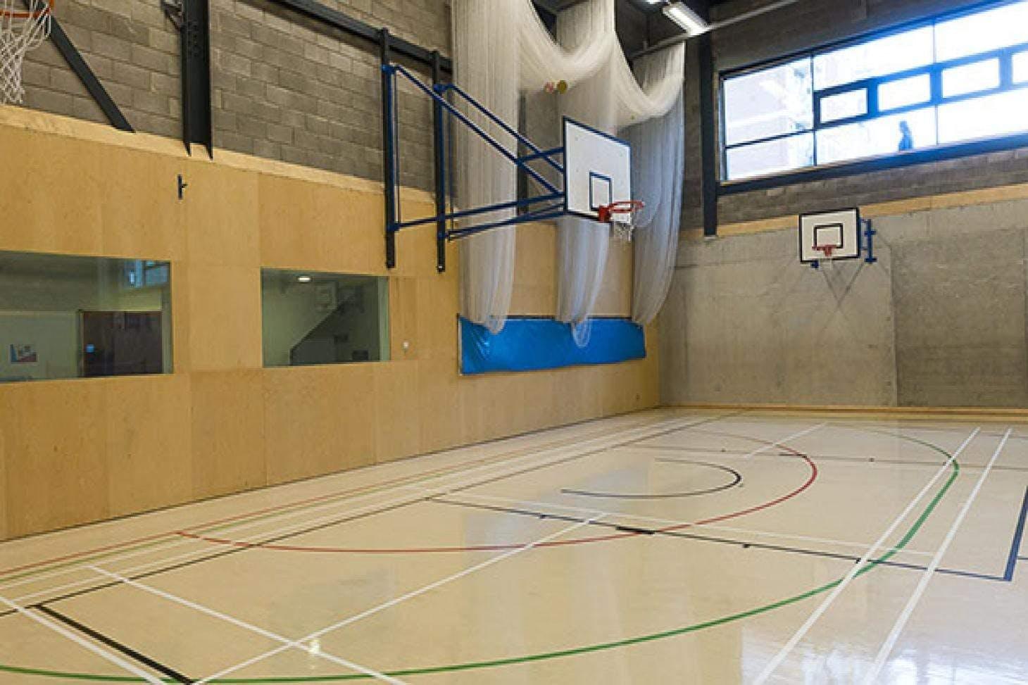 Bridge Academy Indoor netball court