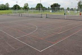 Harris Academy Purley   Concrete Tennis Court