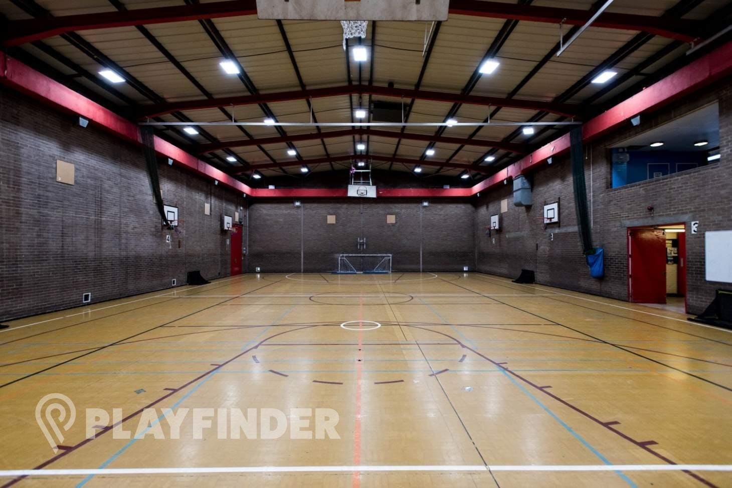 Chiswick School Indoor basketball court