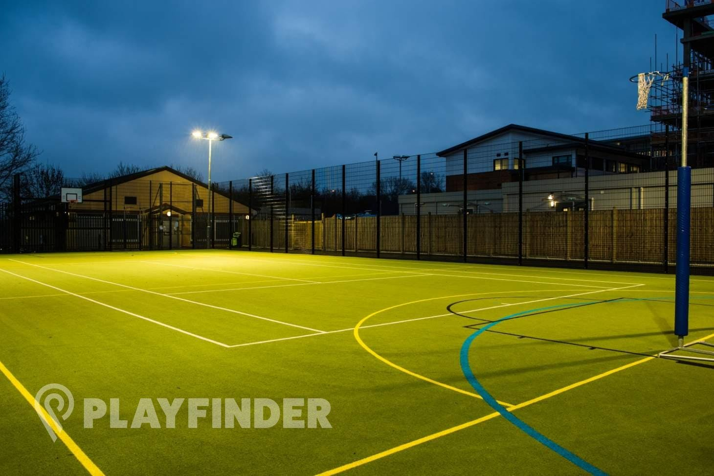 Middlesex University Sports Pitches Outdoor | Astroturf netball court