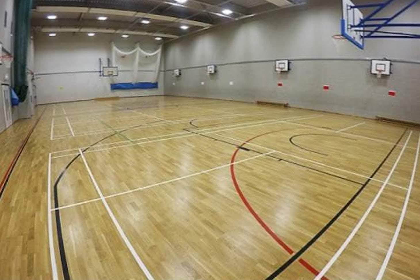 School 21 Indoor basketball court