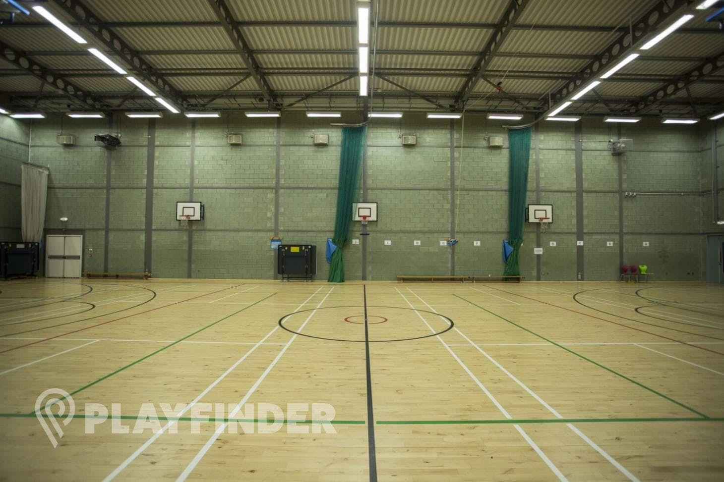 The Harefield Academy Indoor basketball court
