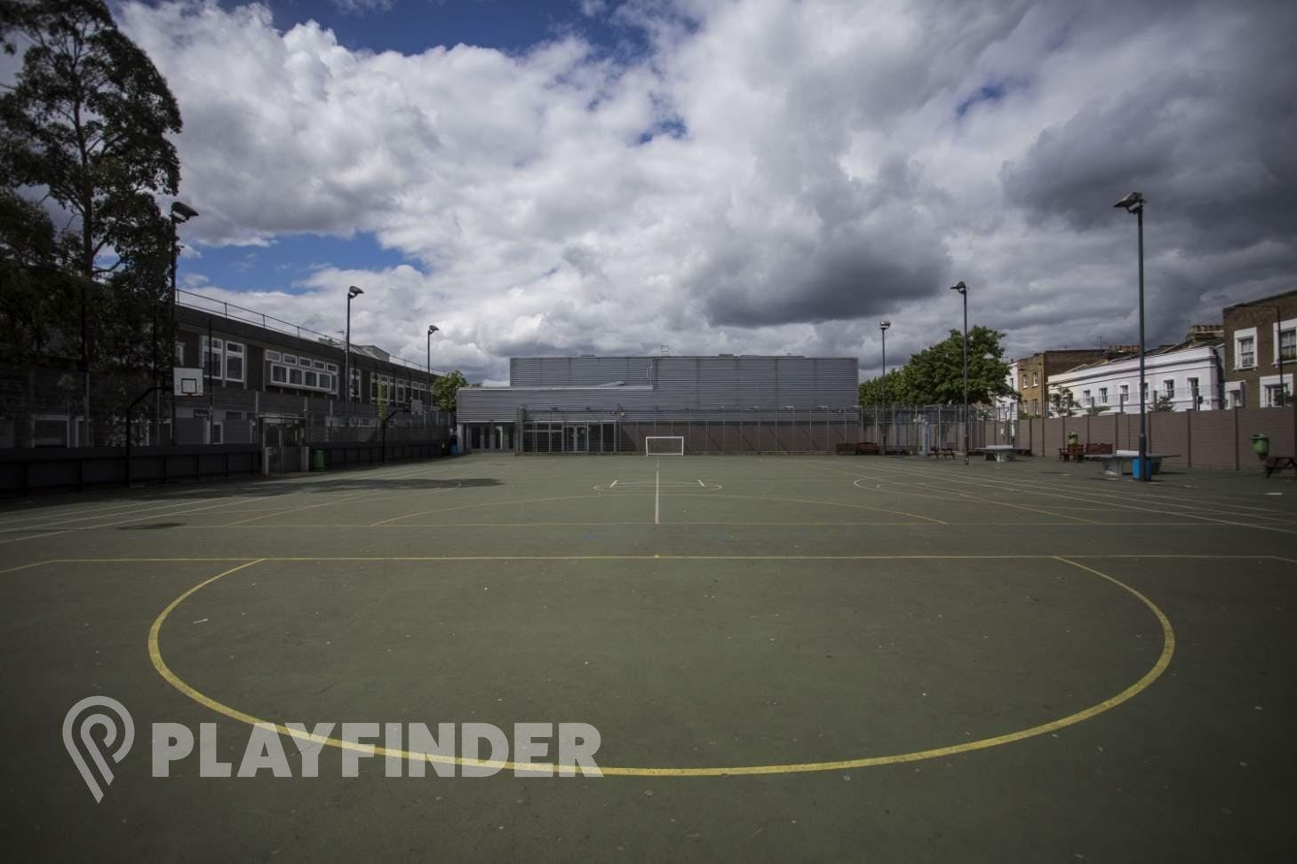 Acland Burghley School 5 a side   Concrete football pitch