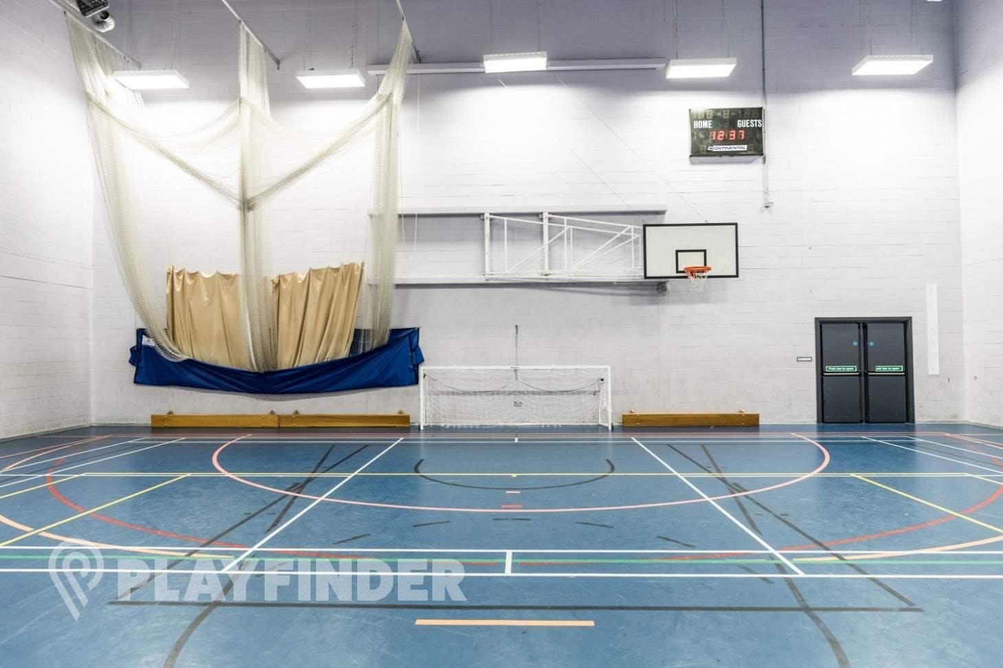 Harrop Fold School Indoor | Hard badminton court