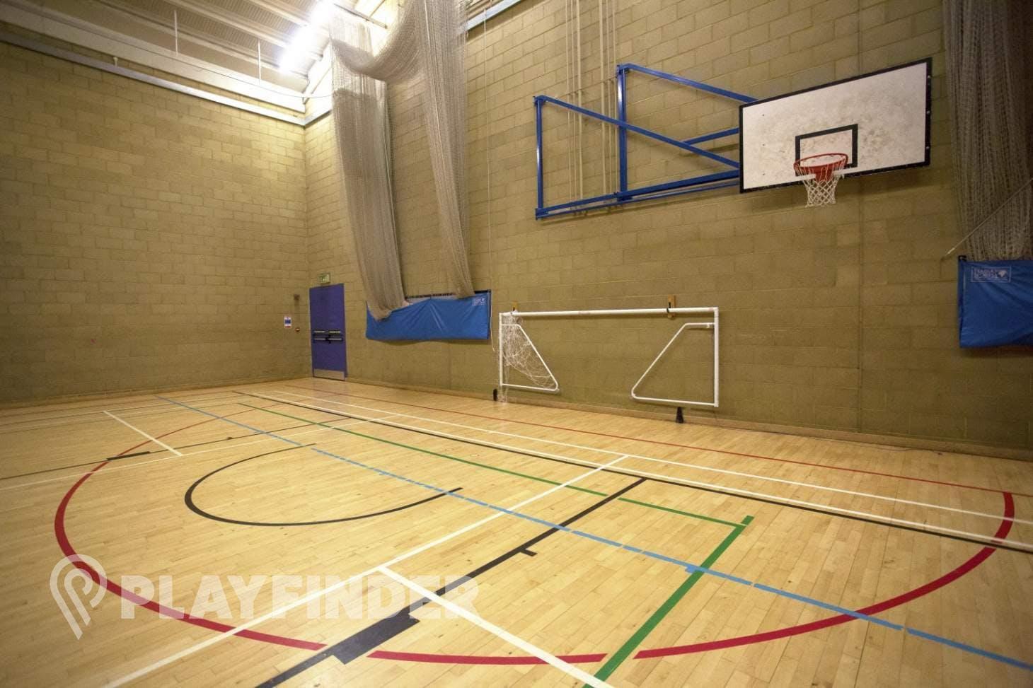 Royal Holloway University Sports Centre Indoor netball court