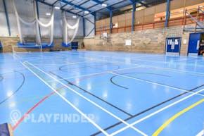 Aldenham School Sports Centre | Indoor Netball Court
