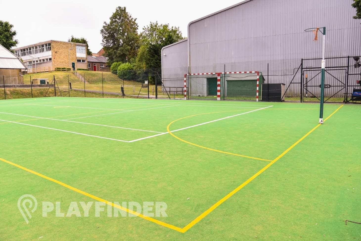 Aldenham School Sports Centre Outdoor | Astroturf netball court