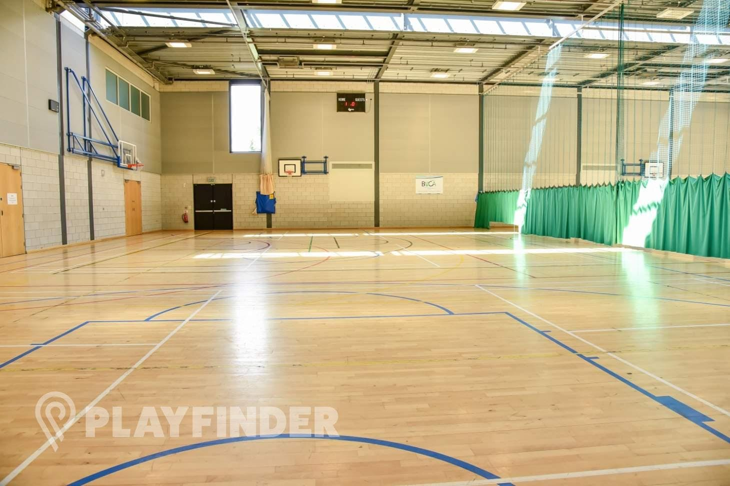 BACA Sports Centre Half court   Sports hall basketball court