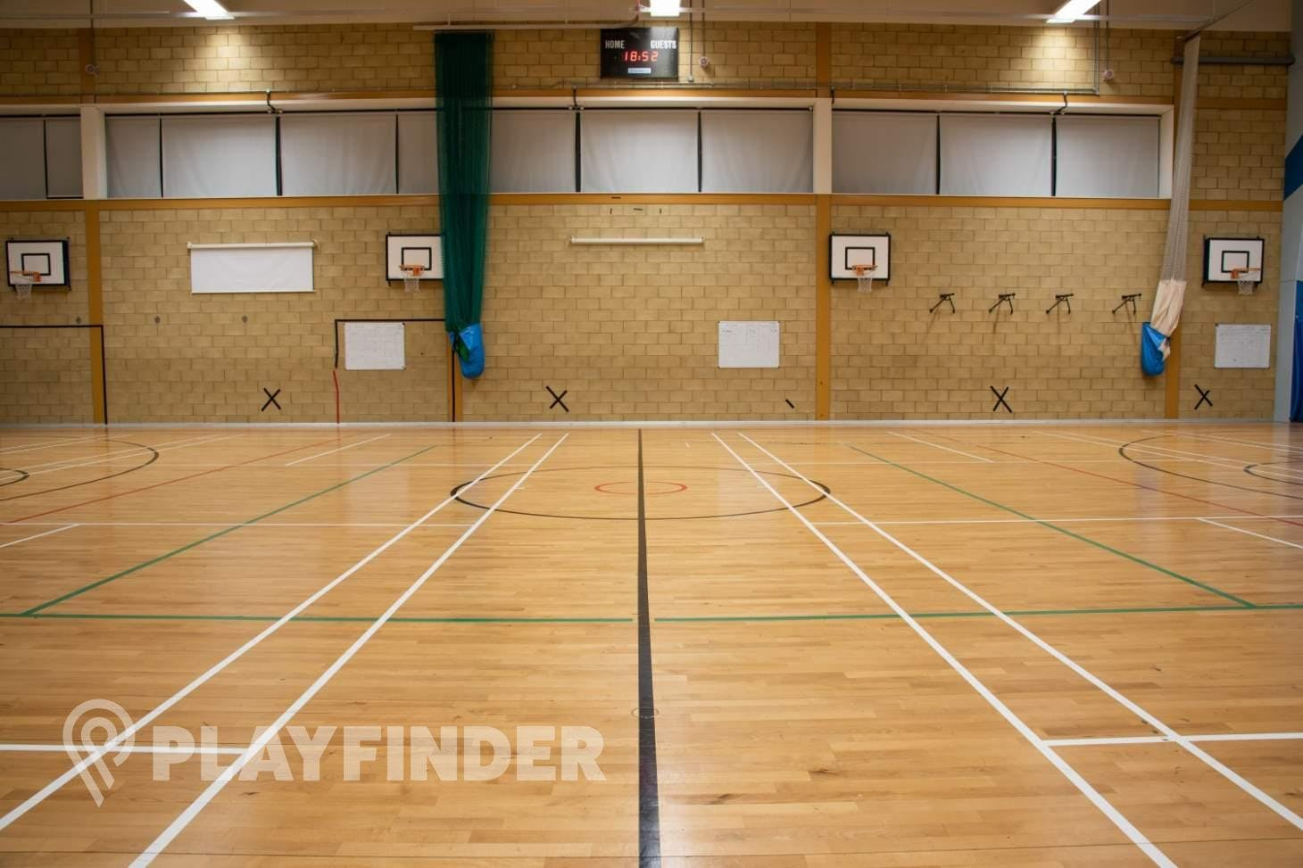 The Petchey Academy Sports Club Indoor badminton court