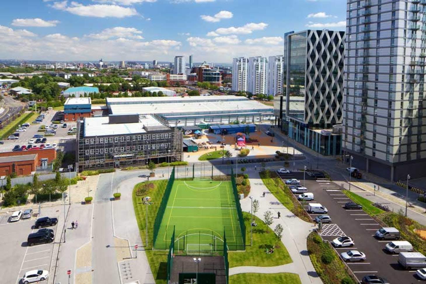 The Pitch - MediaCityUK Outdoor | 3G Astroturf netball court