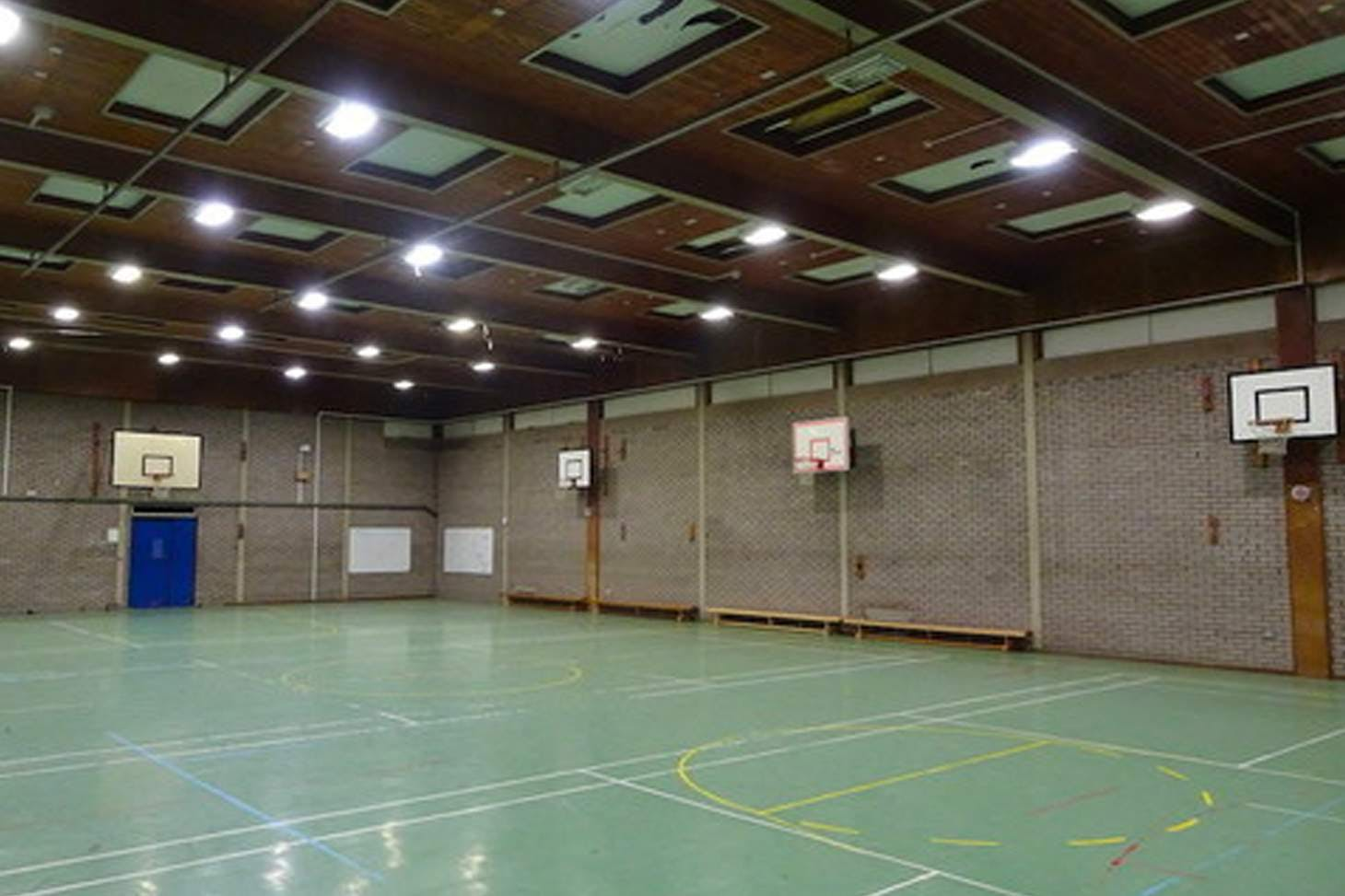 Holmer Green Senior School Court | Sports hall netball court