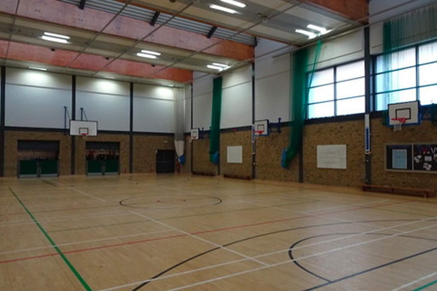 Bishop Challoner Catholic Federation of Schools Court | Sports hall badminton court