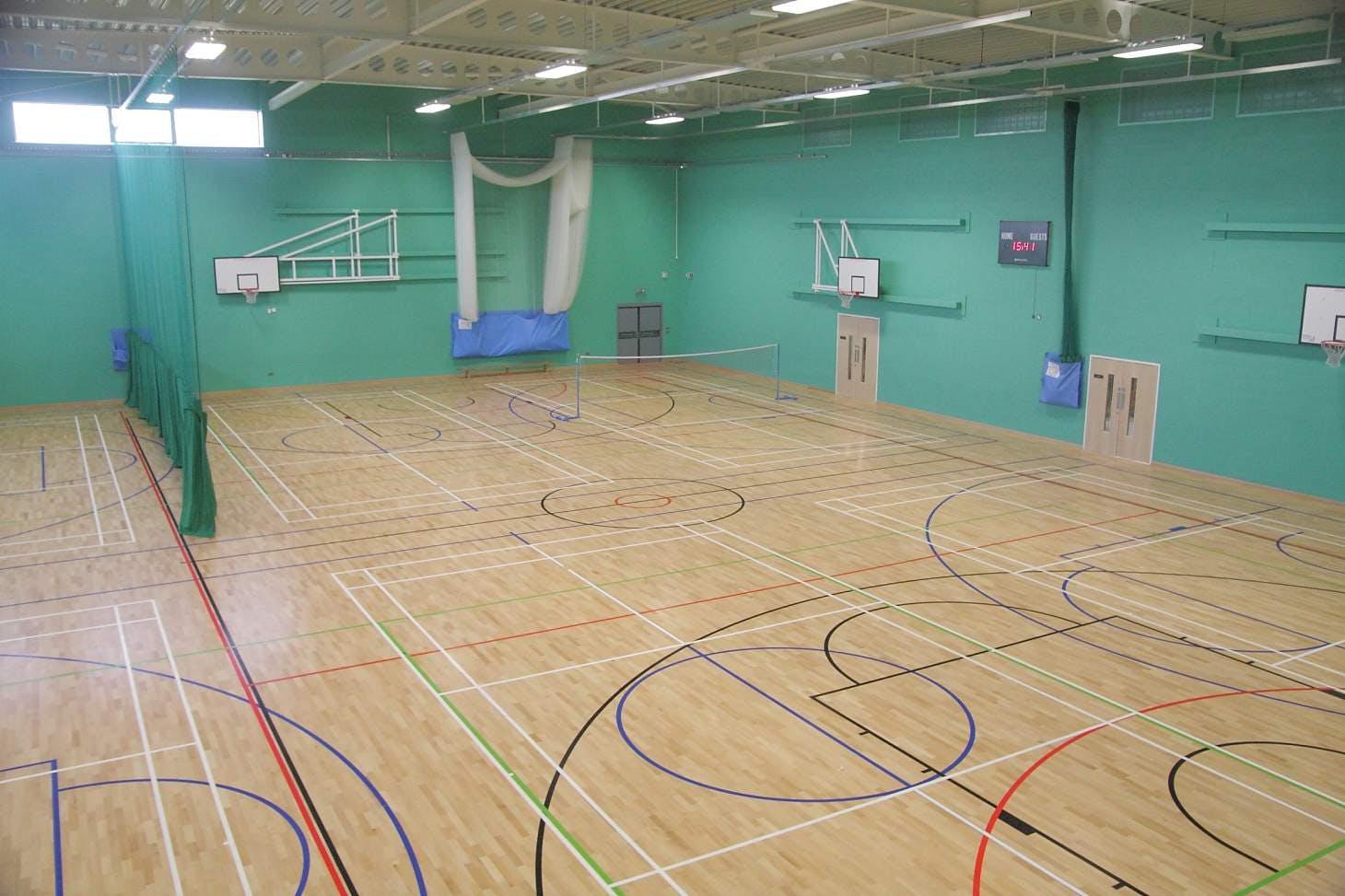 Wellsway Sports Centre Indoor netball court