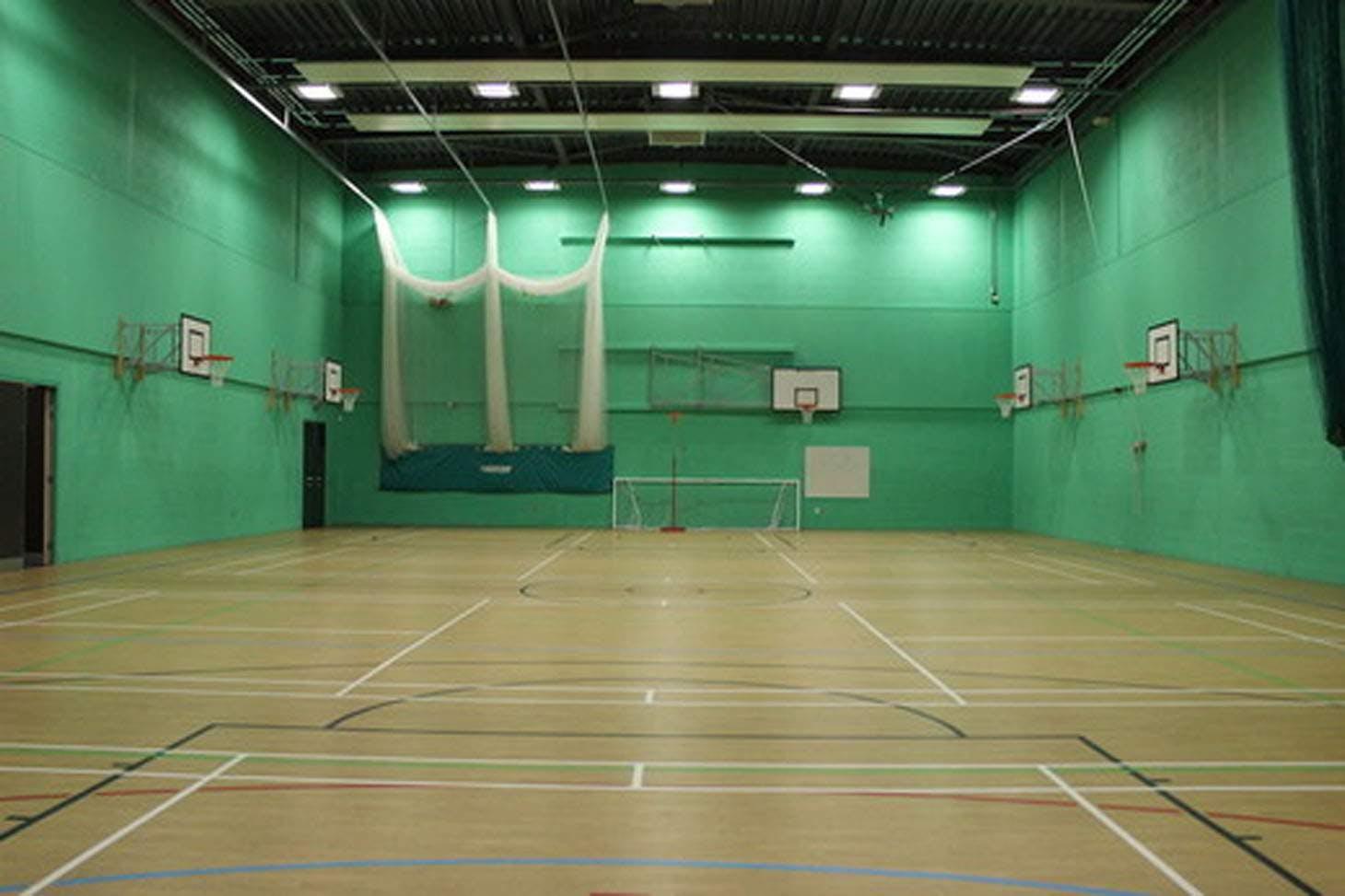 Litherland High School Indoor badminton court