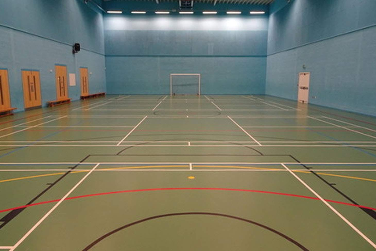 De La Salle Academy Court | Sports hall volleyball court