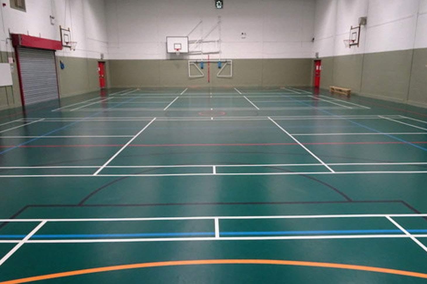 Holly Lodge Girls College Indoor badminton court