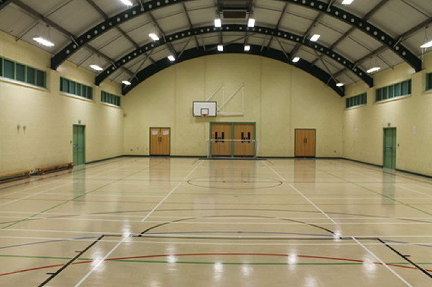 Heworth Grange Comprehensive School Indoor basketball court