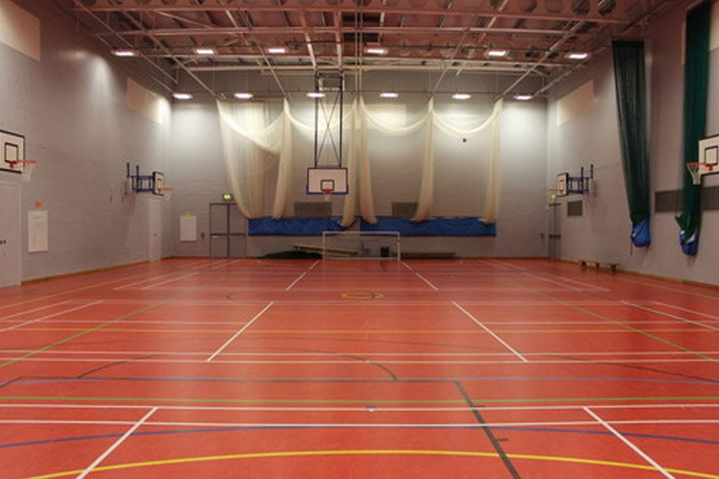 Holte School Indoor netball court