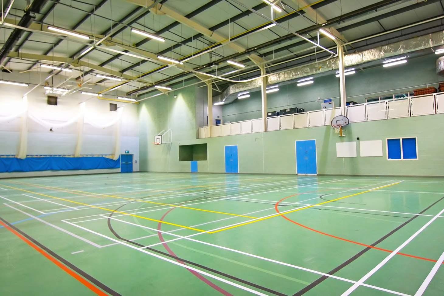 Caterham School Sports Centre Indoor netball court