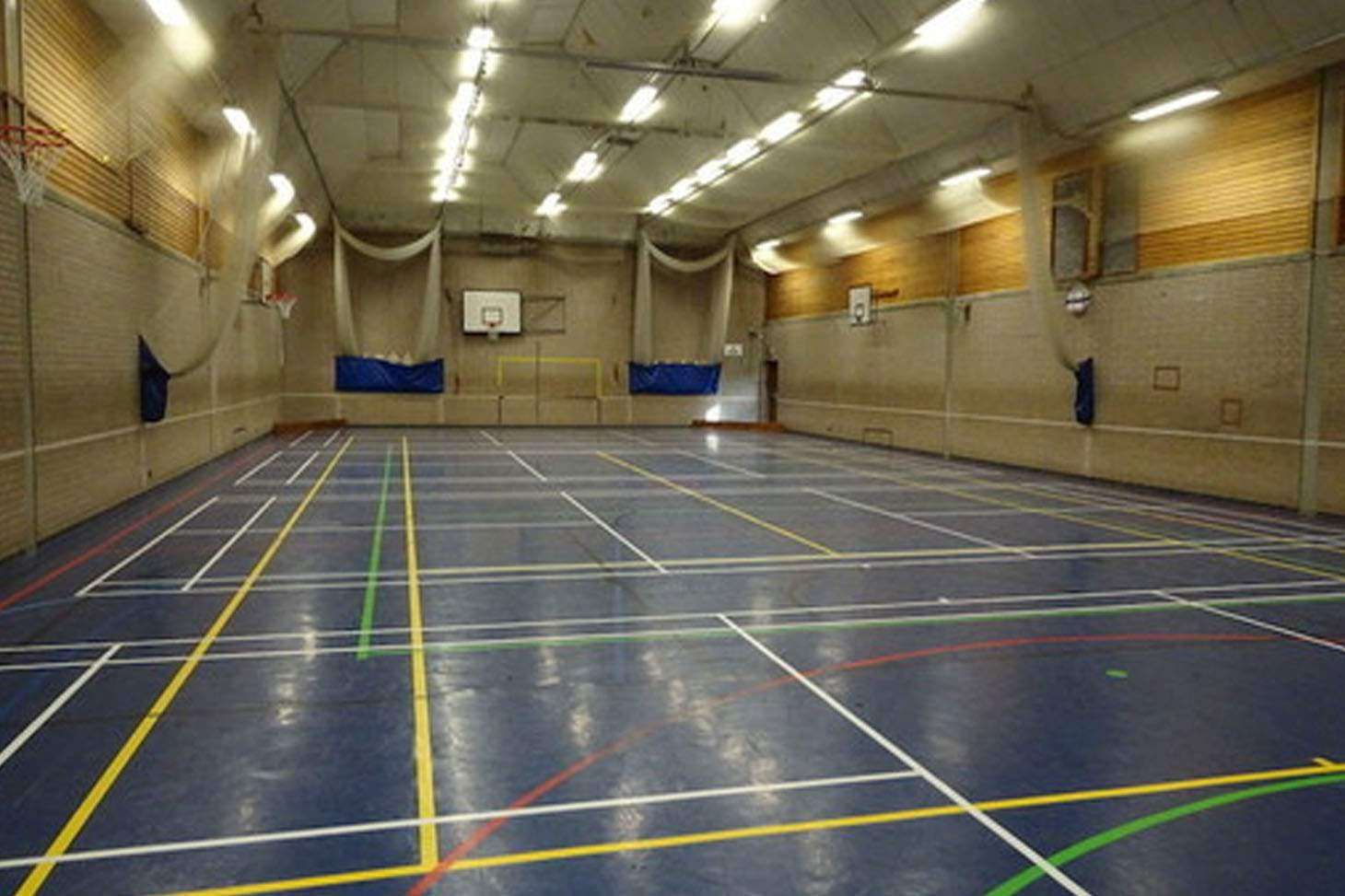 Robert Smyth Academy Indoor badminton court