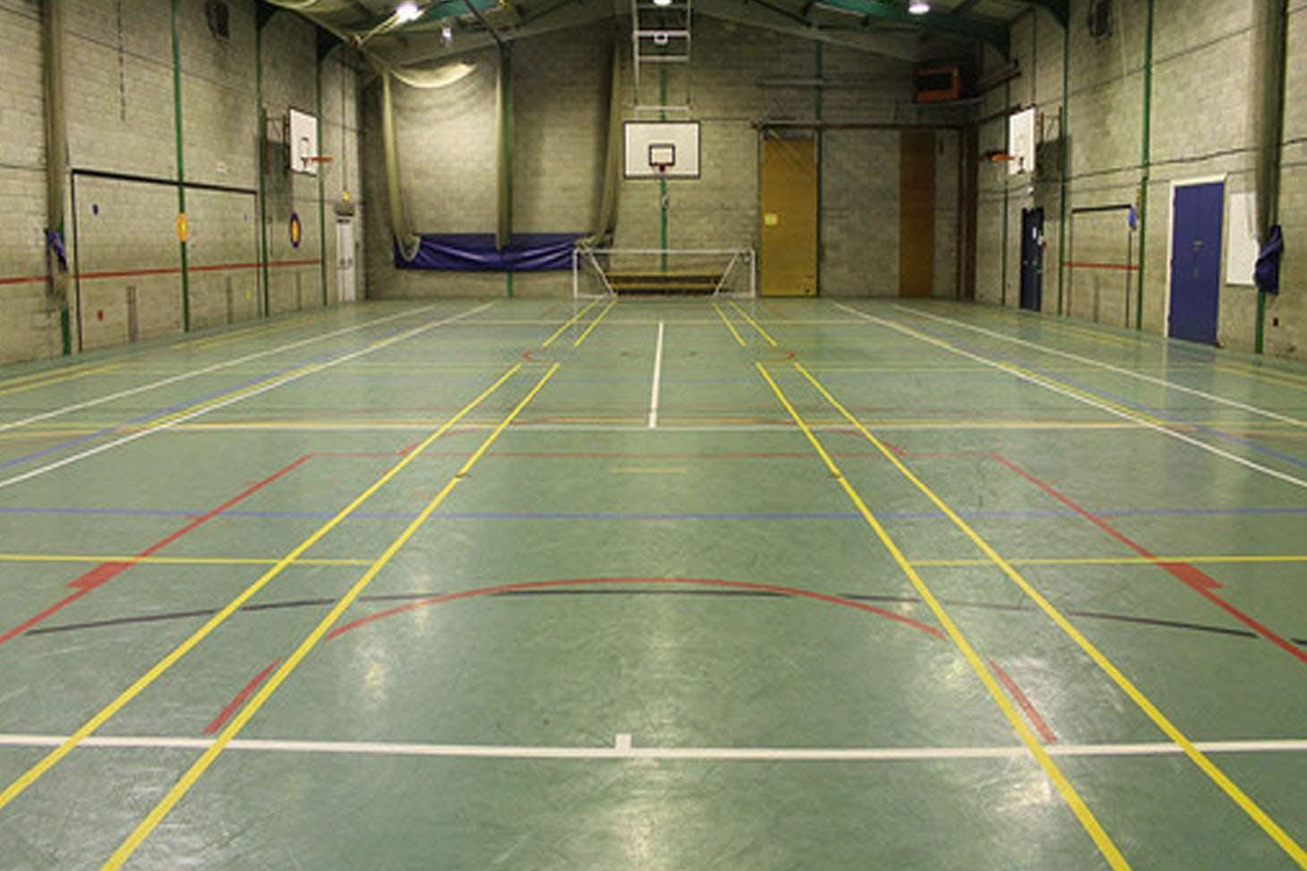 Brownedge St Mary's Catholic High School Indoor badminton court