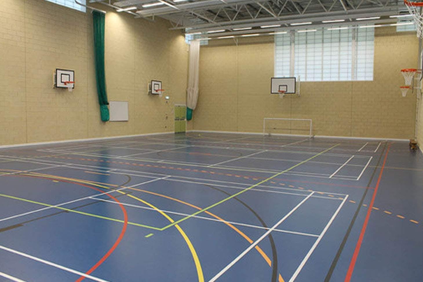 Moor Park High School and Sixth Form Indoor basketball court