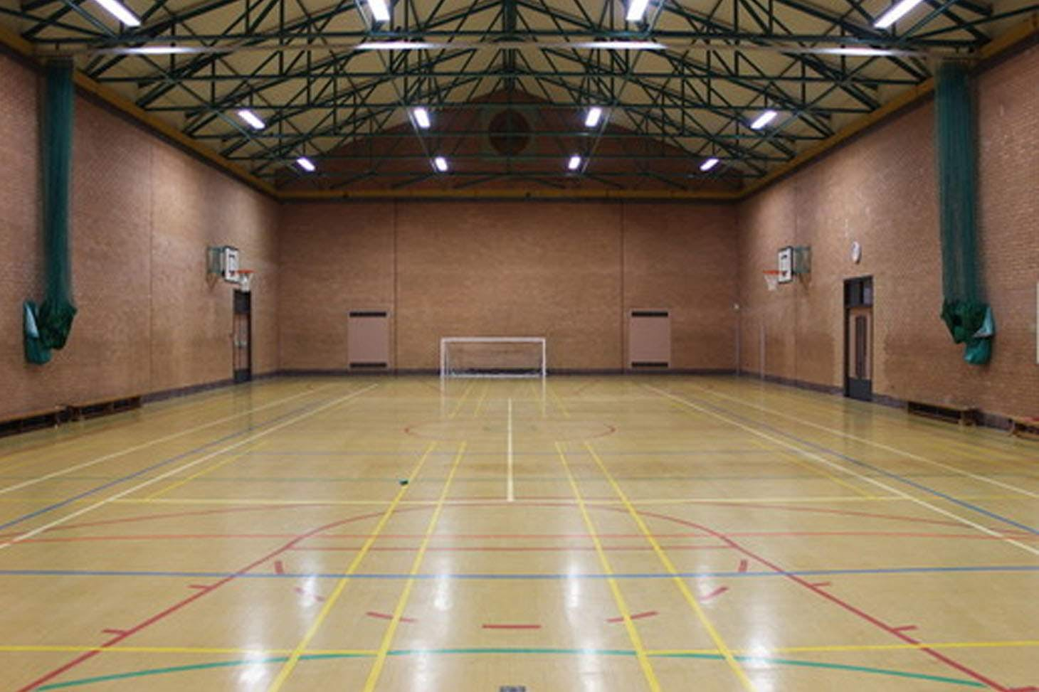 Sir Tom Finney Community High School Indoor basketball court