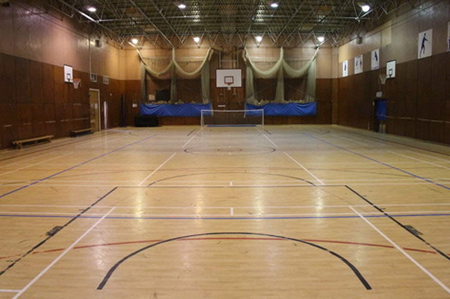 Lostock Hall Academy Indoor badminton court