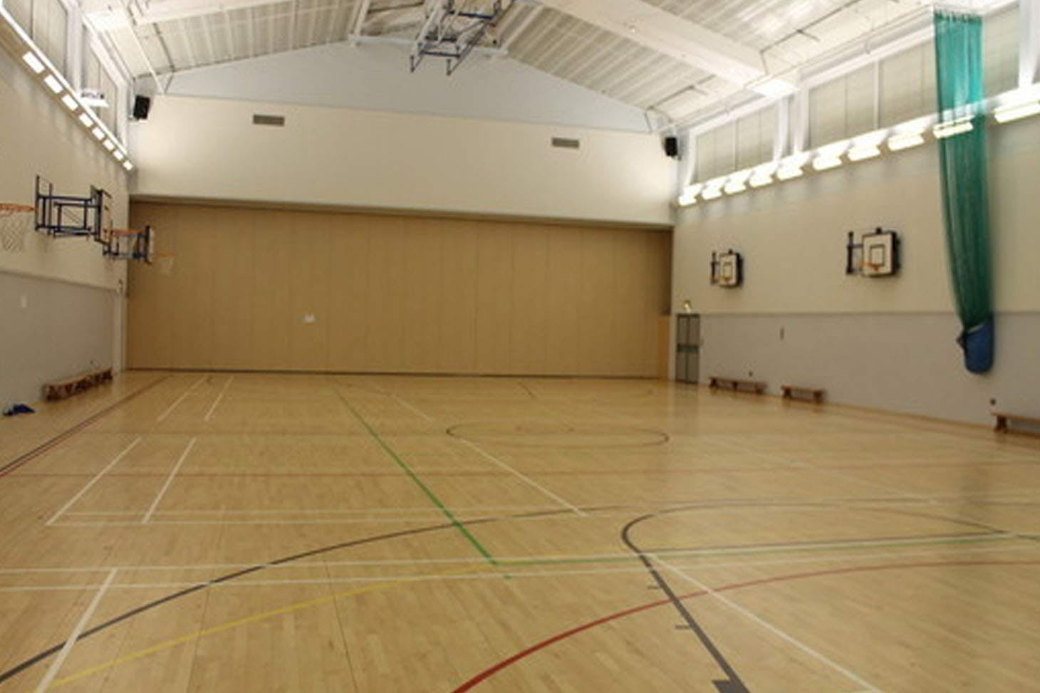 Whitburn C of E Academy Indoor basketball court