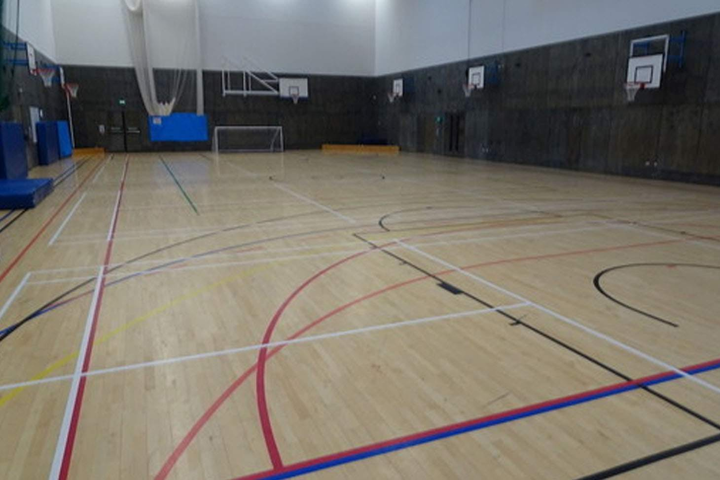 Highfield Leadership Academy Indoor netball court