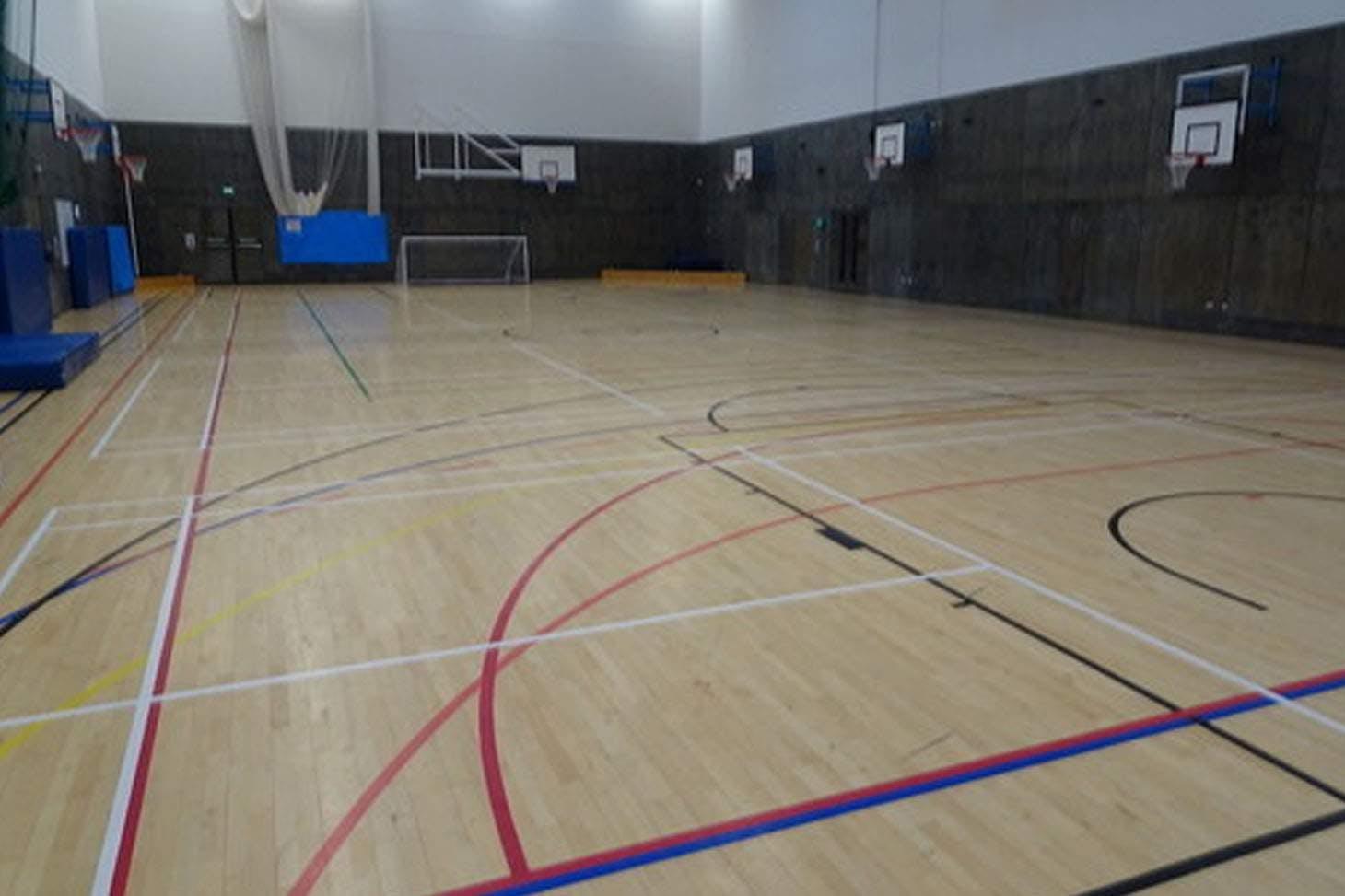 Highfield Leadership Academy Indoor basketball court