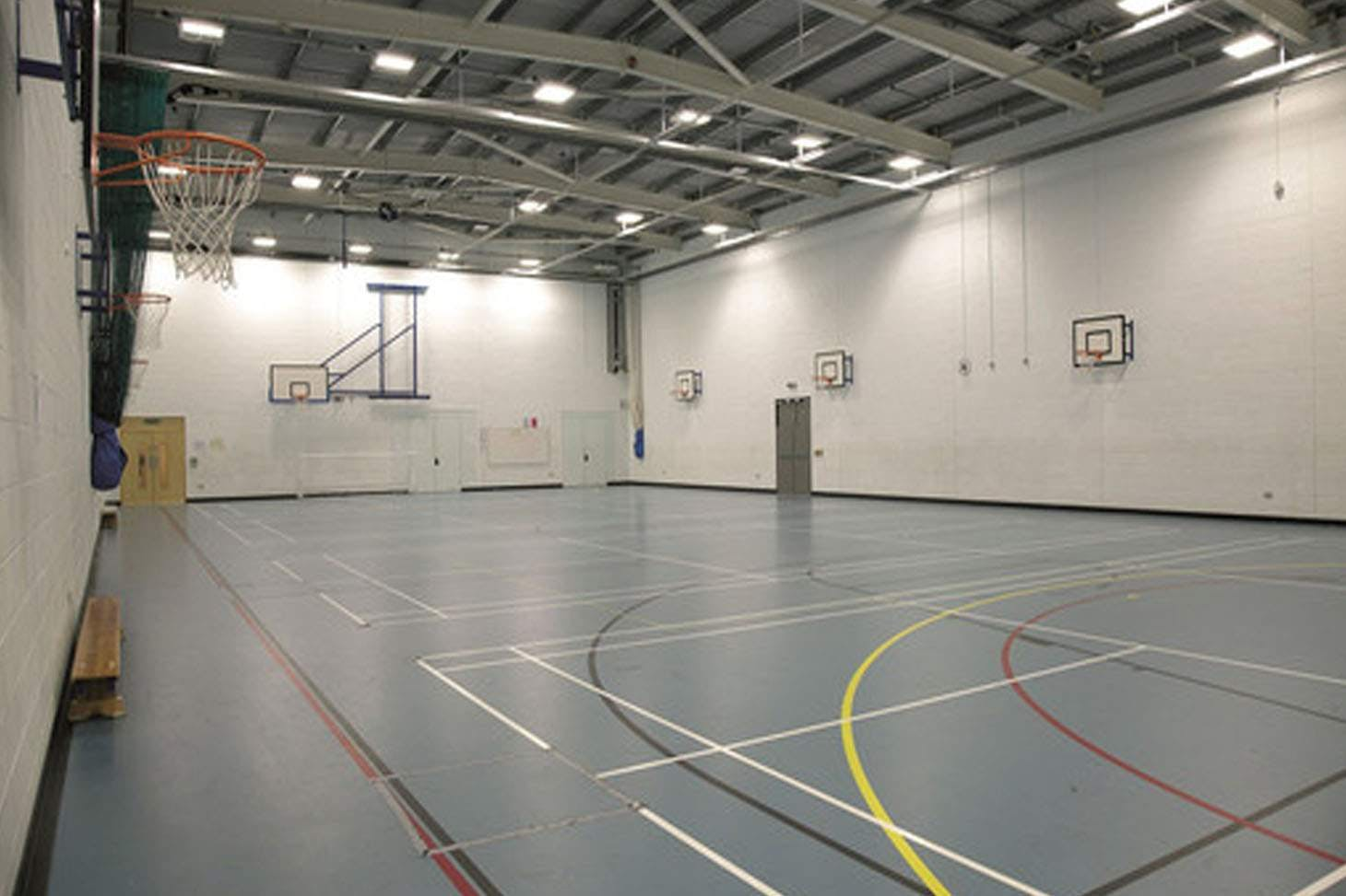 Sheffield Park Academy Indoor badminton court