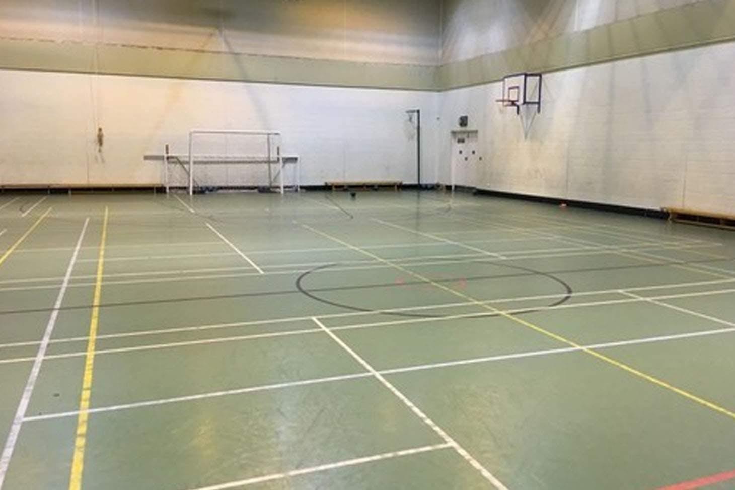 Bury C of E High School Indoor | Hard badminton court