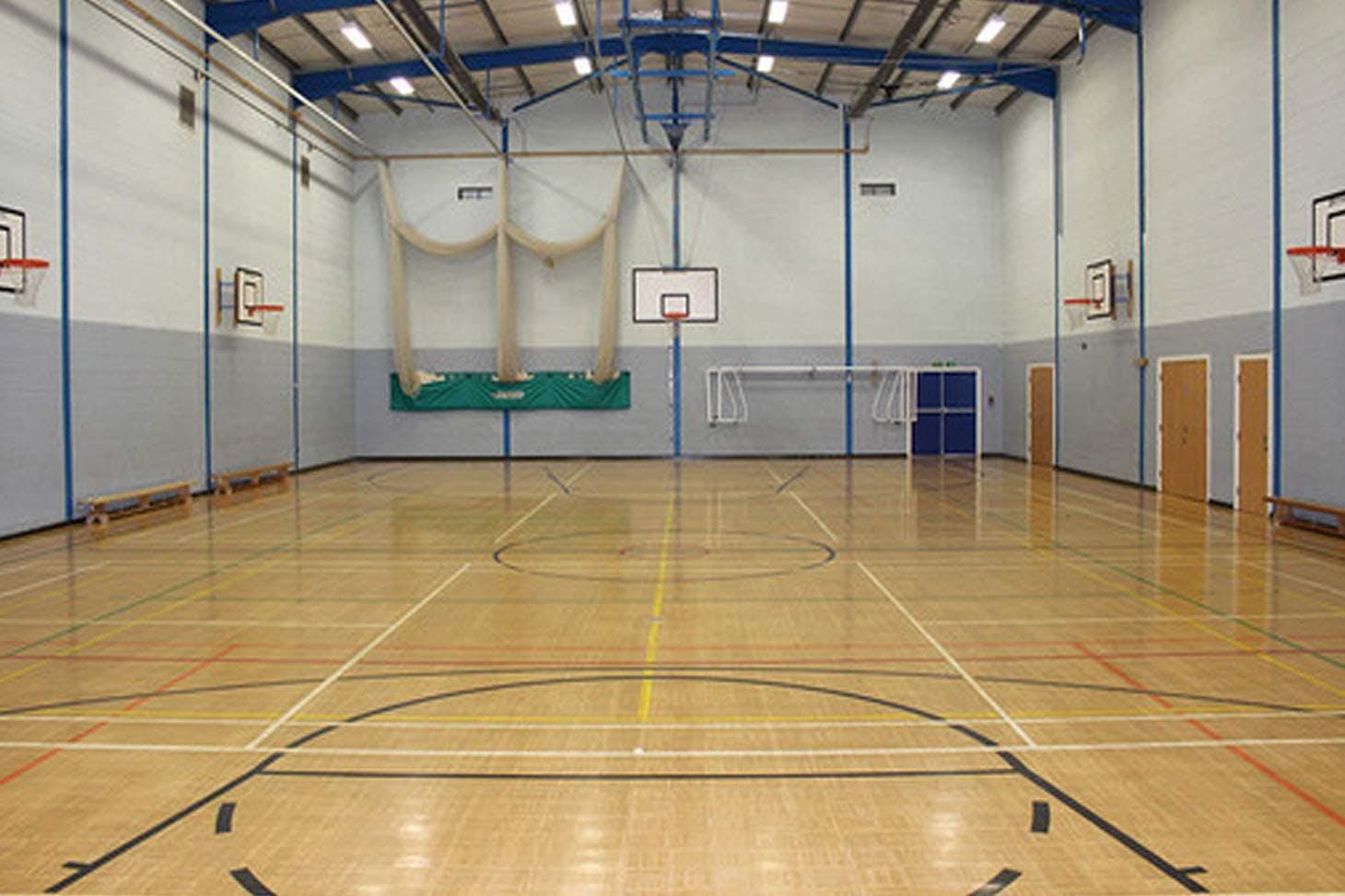 St. James's C of E High School Indoor badminton court