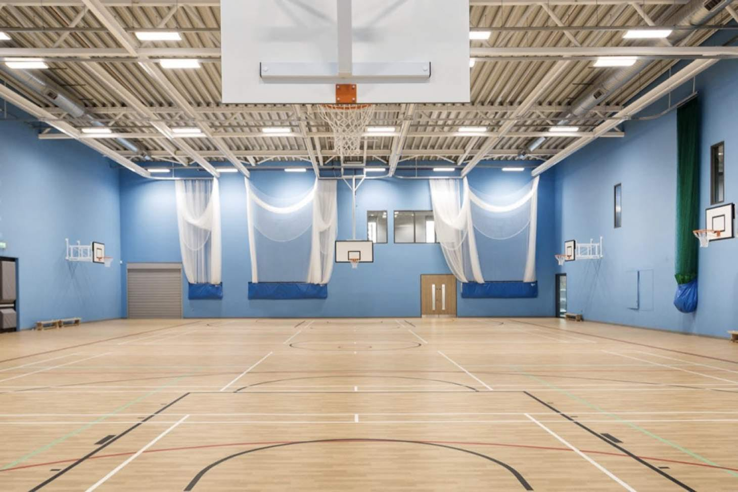 Beaumont School Nets   Sports hall cricket facilities
