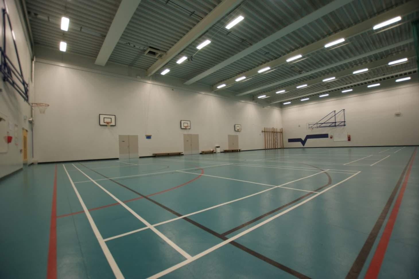Walthamstow School for Girls Indoor basketball court