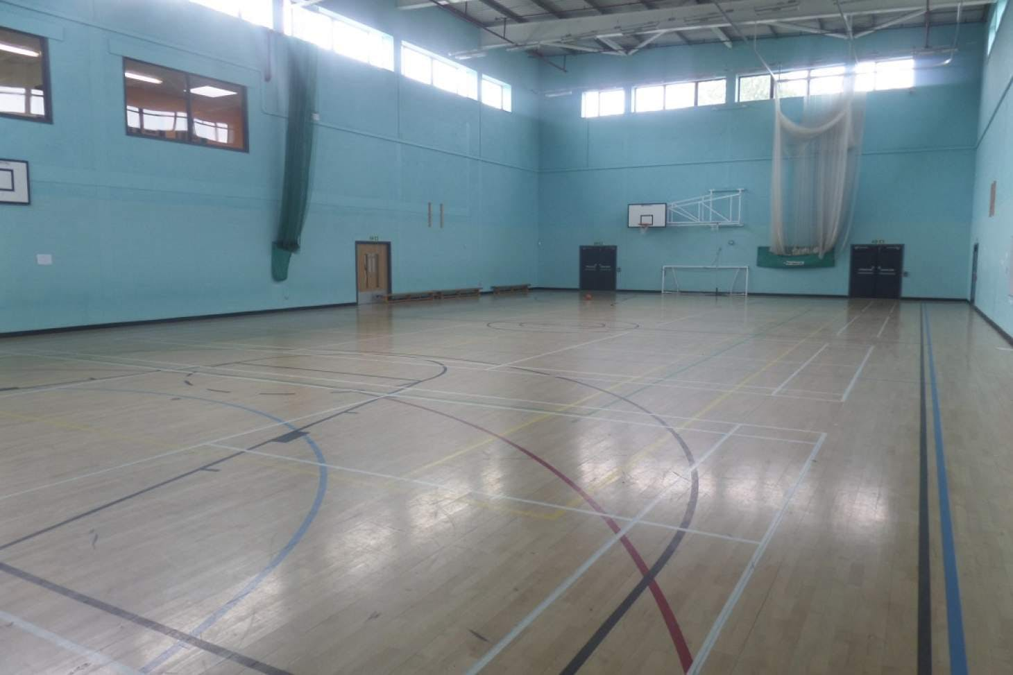 Co-op Academy Leeds Indoor netball court
