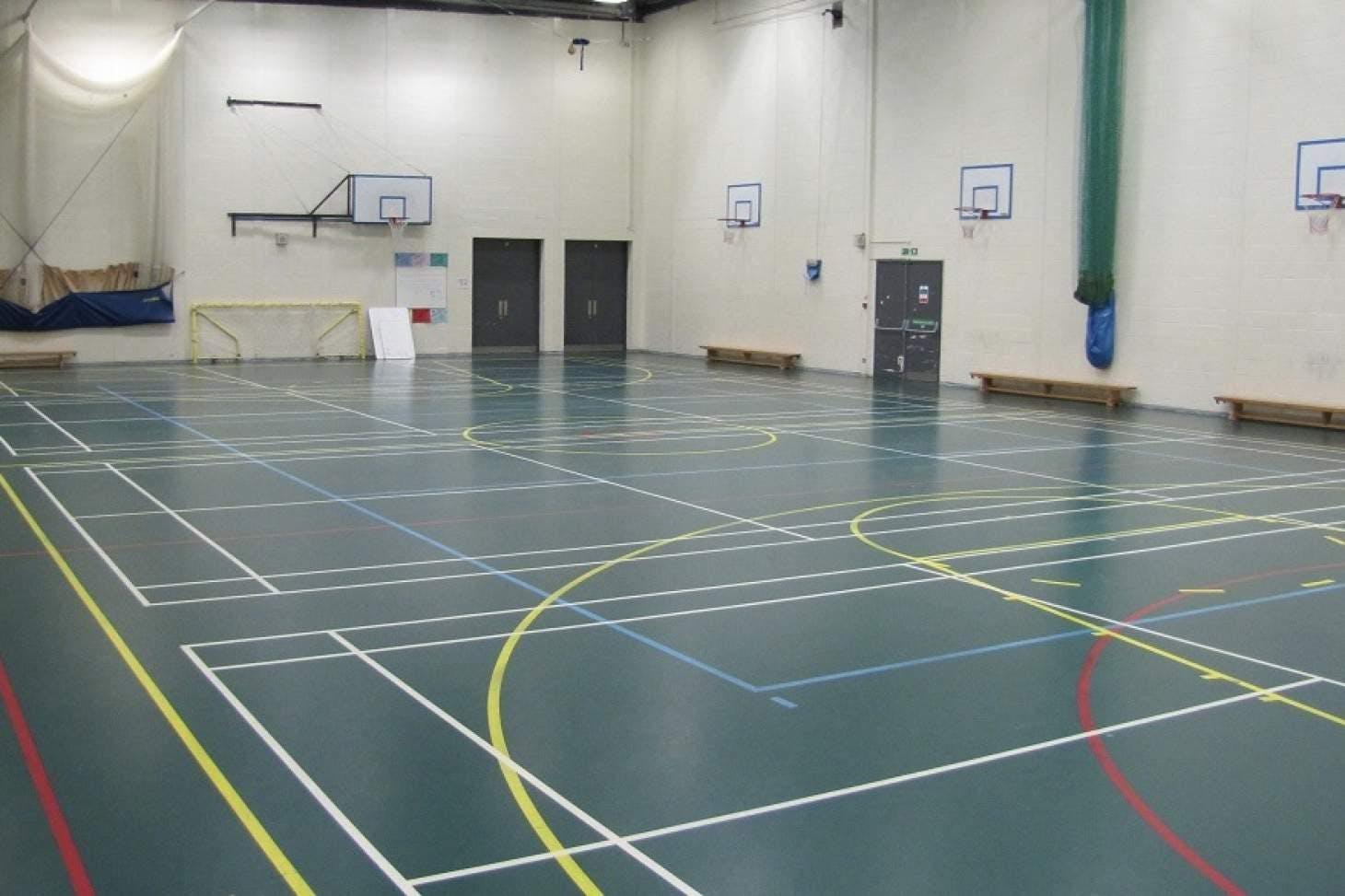 Miltoncross Academy Indoor basketball court