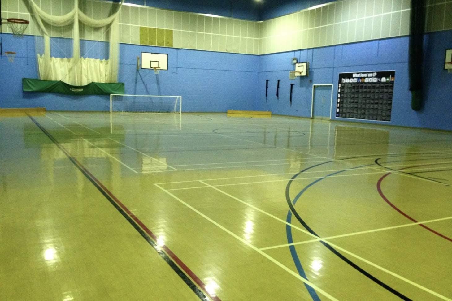King Ecgbert School Indoor netball court